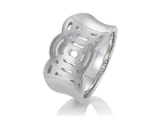 Ladies sterling silver dress ring