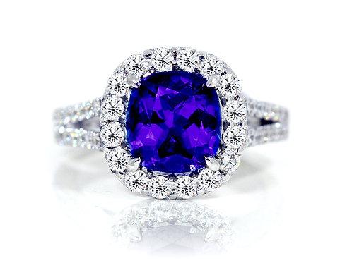 oval tanzanite ring