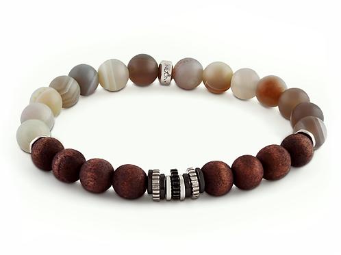 tatteossian brown beaded bracelet