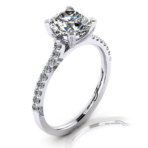 Cushion Cut Diamond Solitaire Engagement Ring