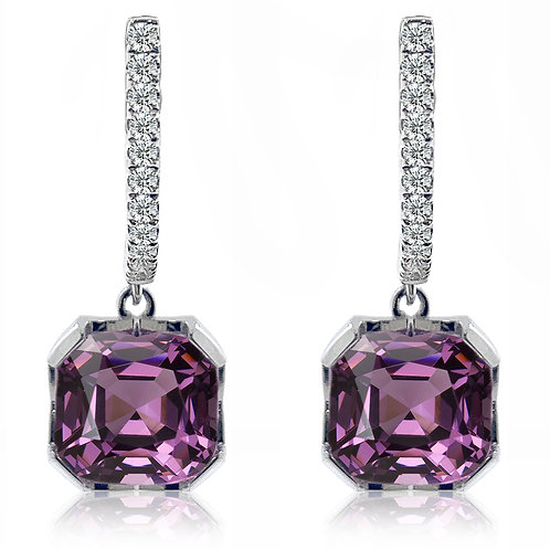 purple spinel earrings
