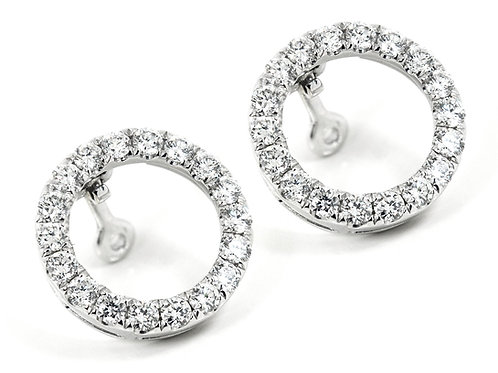 18ct White gold diamond halo attachment for most stud earrings