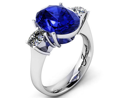 oval tanzanite engagement ring