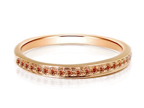 rose gold cognac diamond wedding band