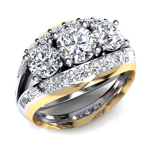 Diamond Pod Engagement Ring