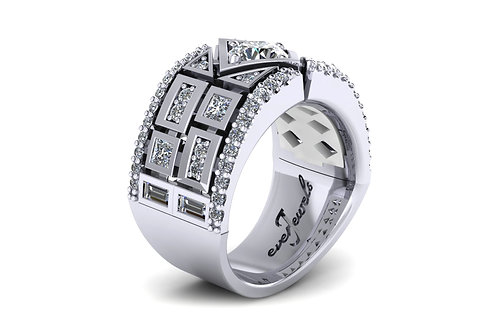 flush set diamond dress ring