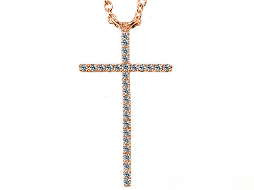 ross gold cross pendant