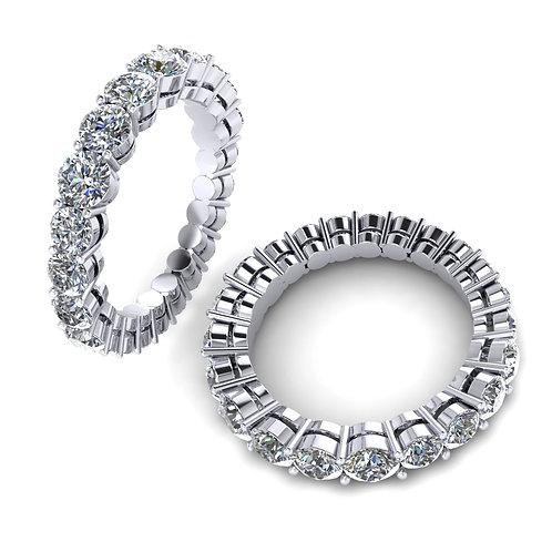 18ct White gold diamond eternity wedding band
