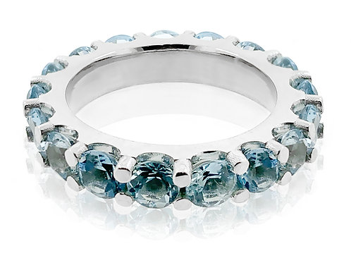 aquamarine eternity band