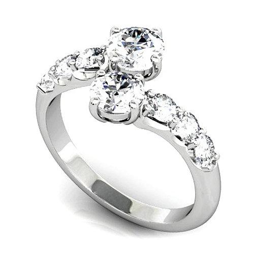 Split Diamond Design Engagement Ring