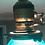 Thumbnail: VTG Emerald Green White Glass Shade Brass Banker Ceiling Light Antique Victorian