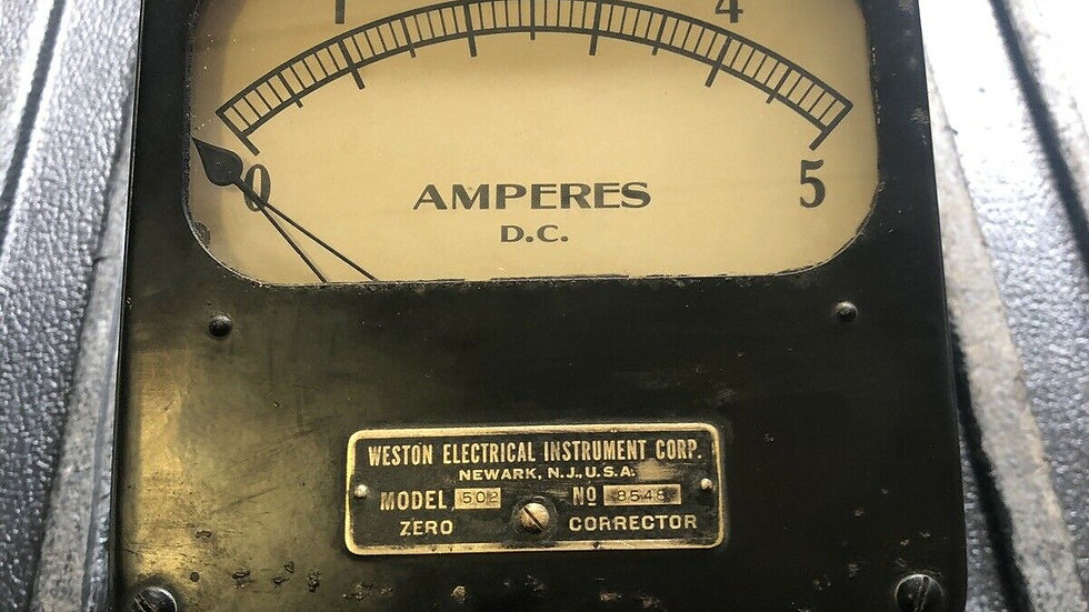 VTG Weston Electrical Instrument AMPERES DC Antique Industrial Steampunk
