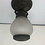 Thumbnail: Antique Arts & Crafts Porch Ceiling Light Fixture Tudor VTG BRASS GLASS OLD 1920