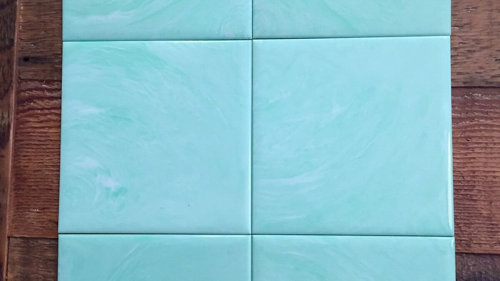"Lot Homart Plastic Wall Tile VTG Midcentury Teal Sea Foam Green 4"" ~30 Avail!"