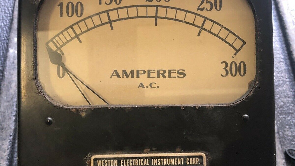 VTG Weston Electrical Instrument AMPERES AC Antique Industrial Steampunk