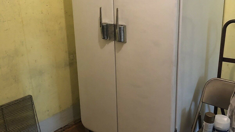 Vtg 1946 Frigidaire REFRIGERATOR Antique Double French Door Fridge RARE!