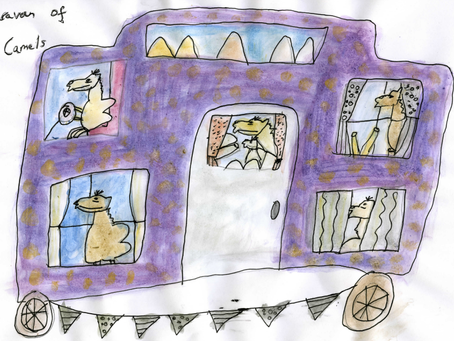 A Caravan of Camels