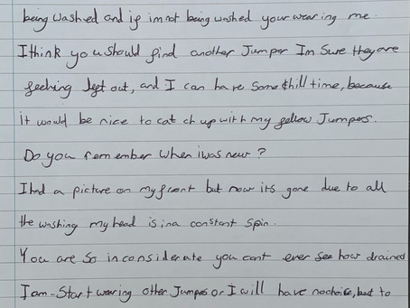 Lovely Writing from Harrison