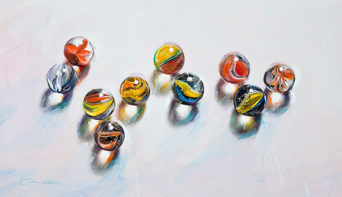 Just Marbles with Shadows