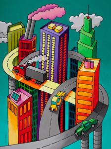 Turquoise Cityscape