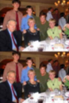 Example of head swap. Family photo