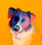 Pastel of dog by Cliff Bull