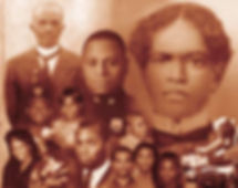 Photo montage of African American family