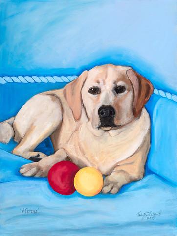 """Kona"" Yellow Labrador Retriever"
