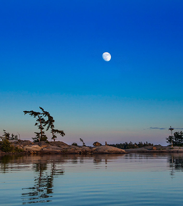 Moon over water | by Steve Baldwin | Studio Astute | Fairport NY