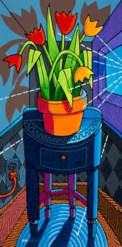 Blue Room Tulips