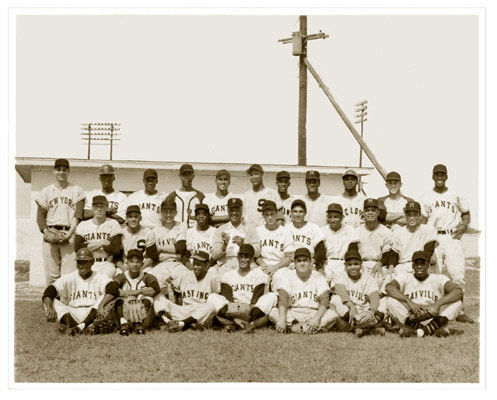 Restored photo of Latin American baseball players