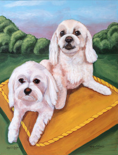 """""""Toto and Topper Rahe"""" Maltese Terrier"""