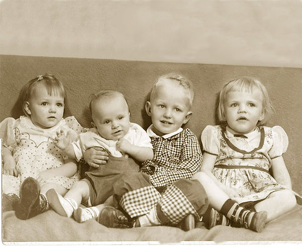 Photo restoration | 4 kids
