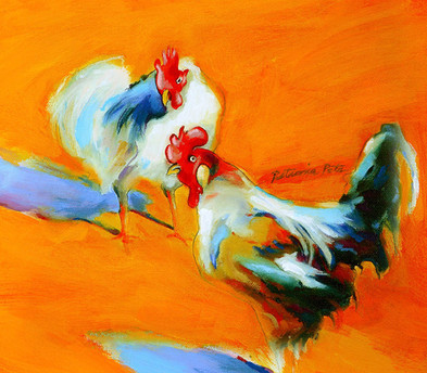 Roosters in the Village II