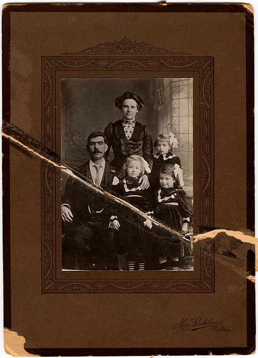 Antique family portrait | Photo restoration | Fairport NY | Studio Astute