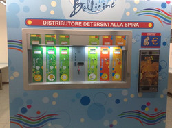 DISTRIBUTORE DETERSIVI IN LAVANDERIA