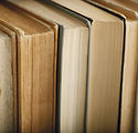 row-books-as-background-literature-conce