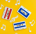 colorful-cassette-tapes-on-bright-backgr