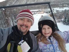 Skiing with Ella - 2018