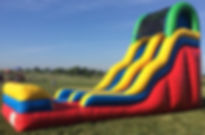 Awesome Wet Water Slide Inflatable Rental at Elementary School Event