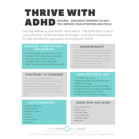 Natural, Drug-Free Therapies & Tips For ADHD