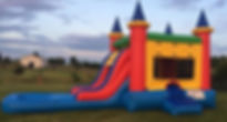Bounce House Combo With Water Slide and Pool Rental at Customers House
