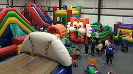 Indoor Climate Controlled Inflatable Center - Obstacle Course, Toddler Inflatable, Ball Pit, Baseball, Football