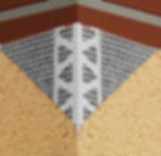 Mesh wing corner bead