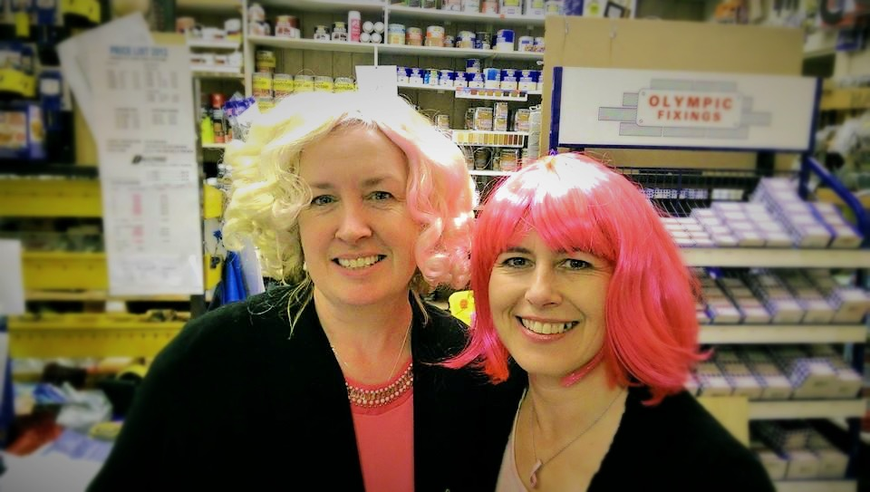 Helena & Kate - Wear it pink day