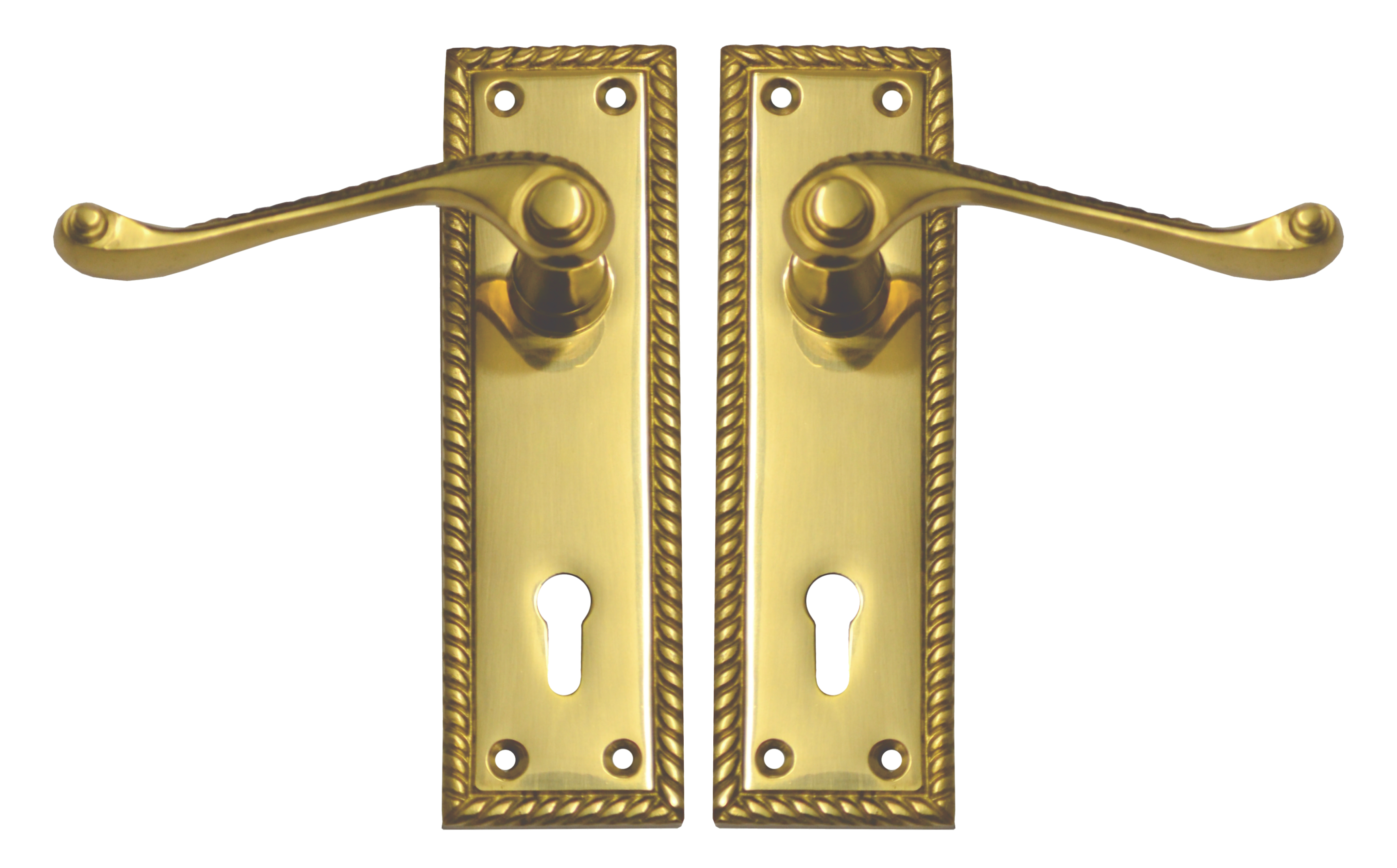 Georgian Lever Lock Set