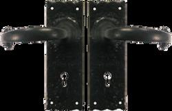Tudor Black Antique Lock Set