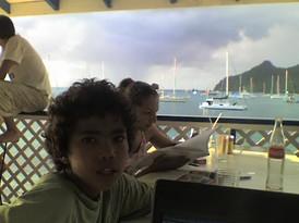 My student Fernando _ Carriacou island