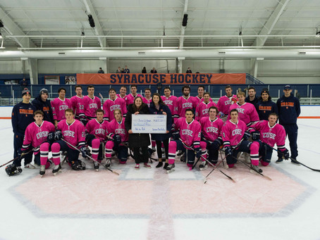 Syracuse Drops Pink the Rink Game 4-3 to NYU
