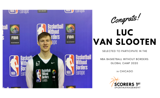 Luc van Slooten to participate in the NBA Basketball Without Borders Global Camp 2020